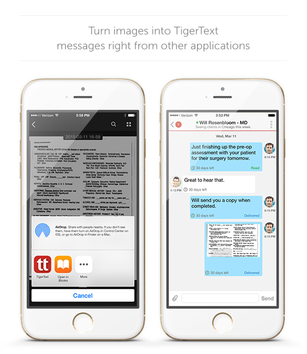 TigerText App Extension